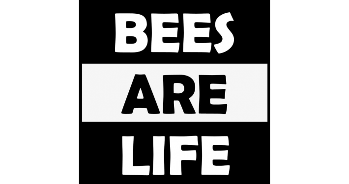Logo Bees Are Life